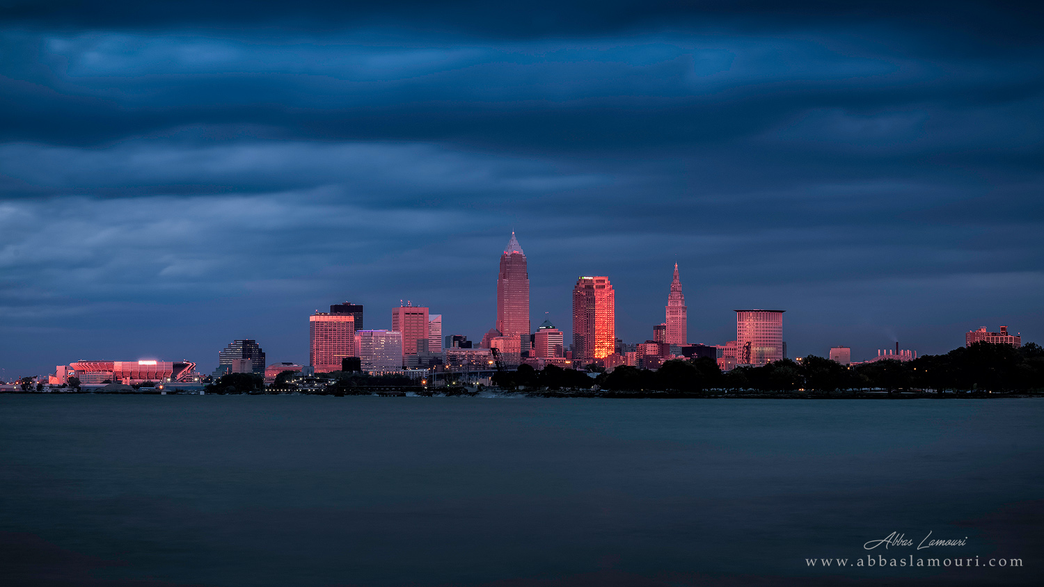 Cleveland Skyline from Edgewater Park - Cleveland, Ohio