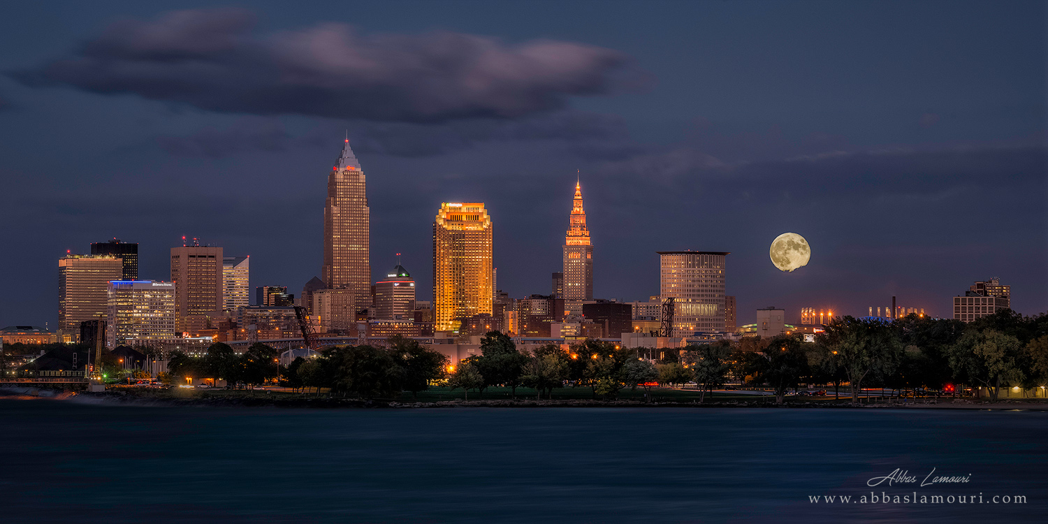 Cleveland Skyline from Edgewater Park - Lakewood, Ohio
