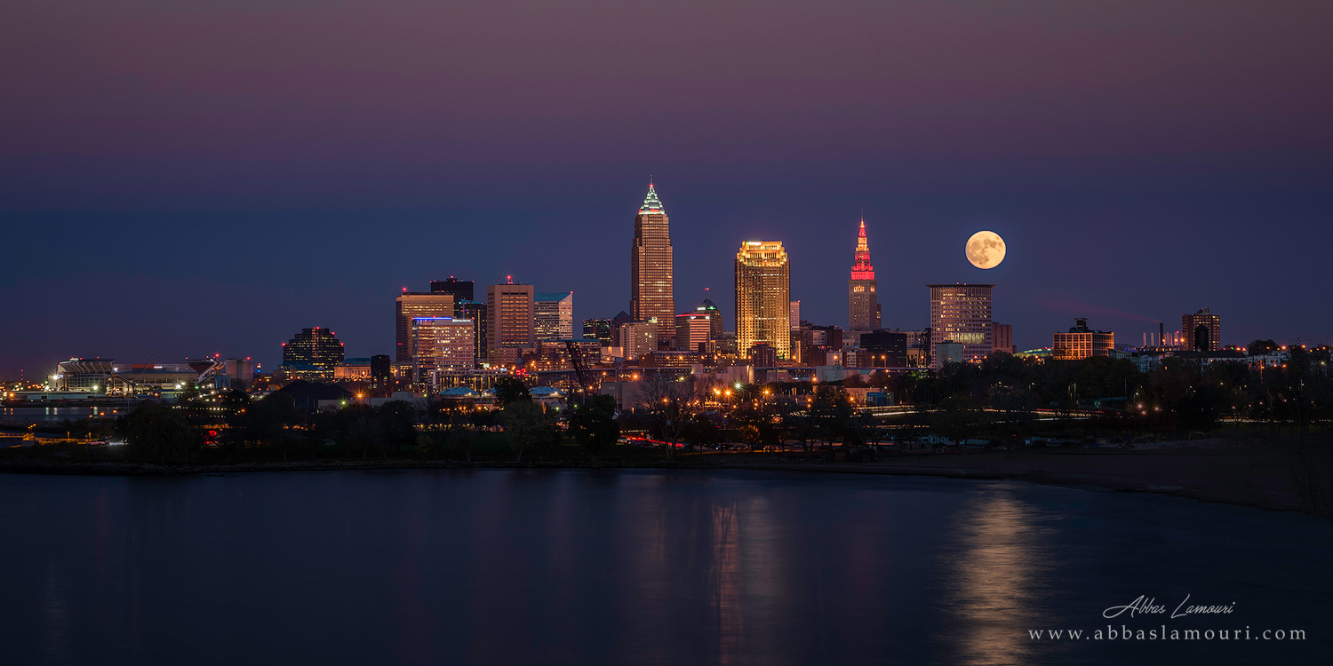 Supermoon over Cleveland, Ohio