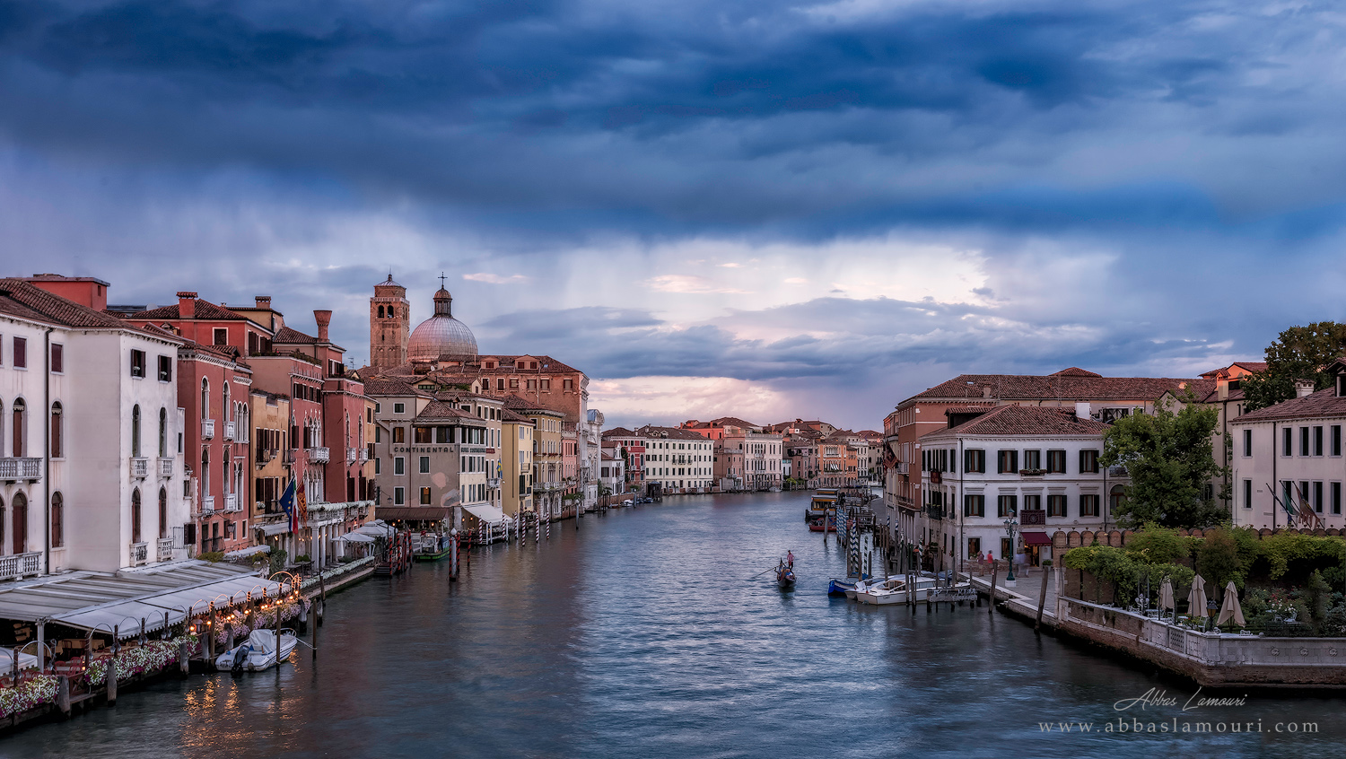 A View of Grand Canal from Ponte degli Scalzi - Venice, Italy