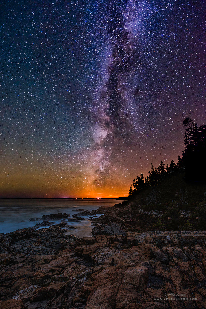 Milky Way over Otter Point - Acadia National Park, Maine