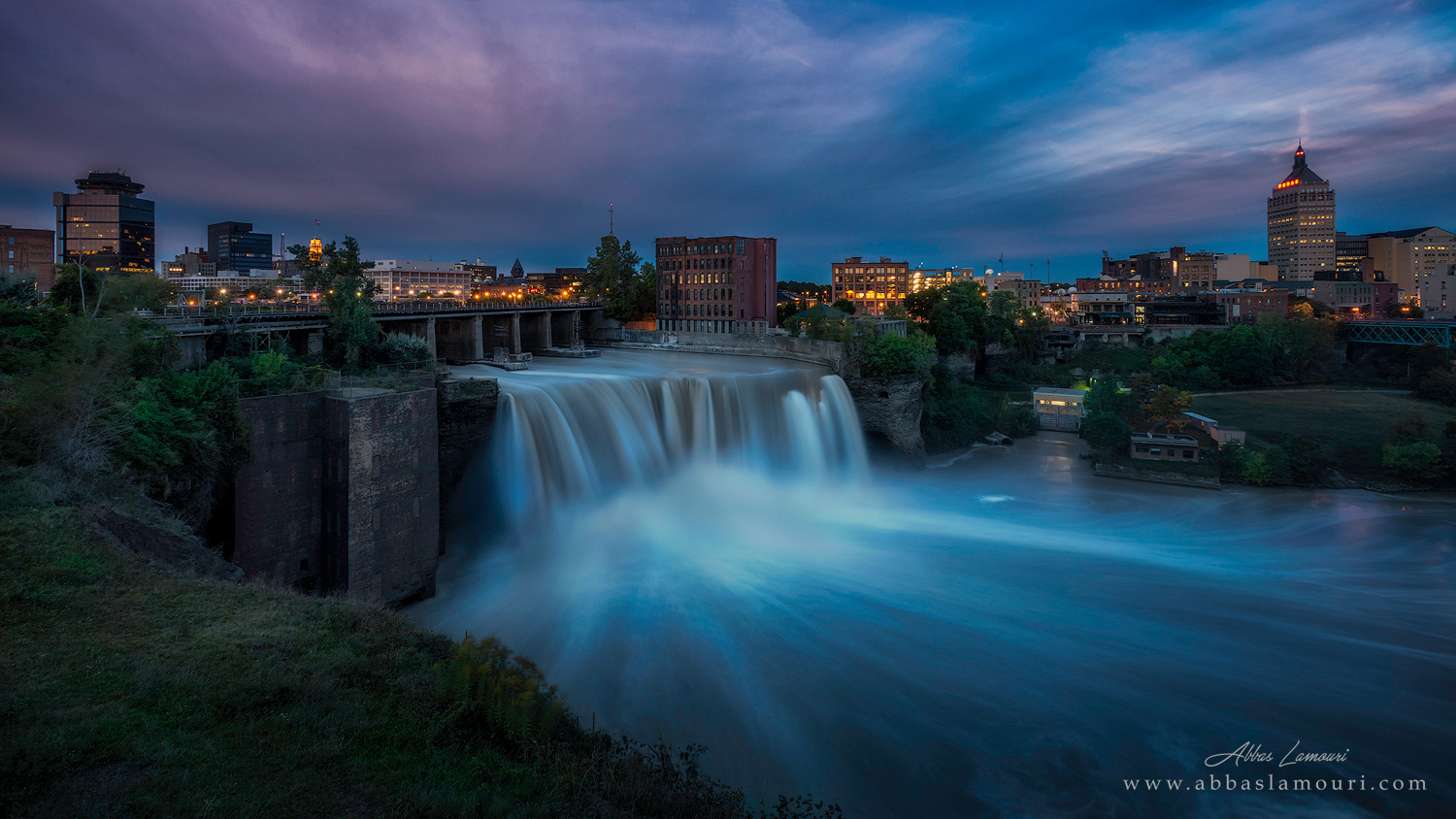High Falls at dawn - Rochester, New York