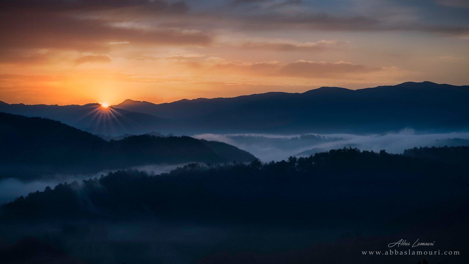 Foothills Sunrise - Smoky Mountains National Park, Tennessee