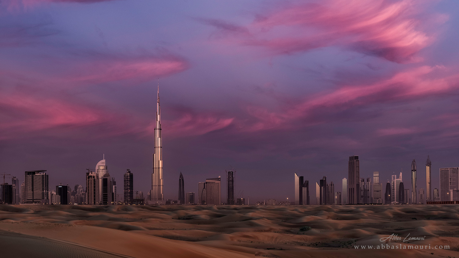 Dubai Skyline from Ras Al Khor - Dubai, UAE