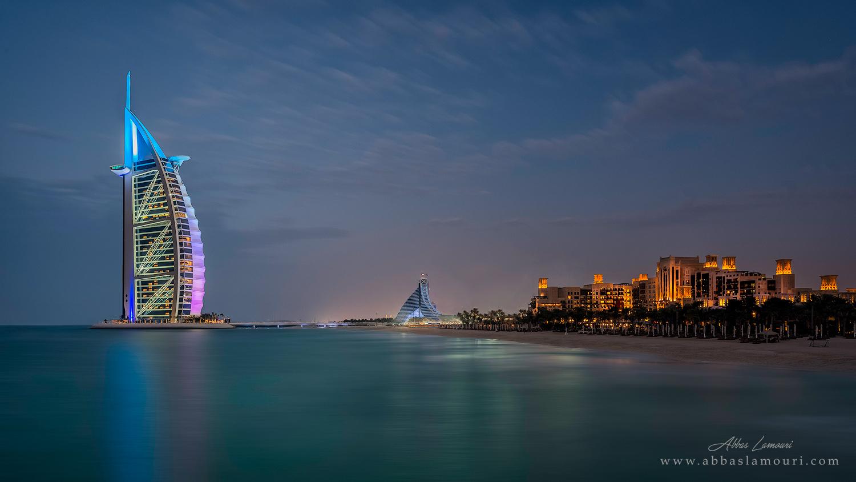 Burj Al Arab, Jumeira Beach Hotel and Madinat Jumeira - Dubai, UAE